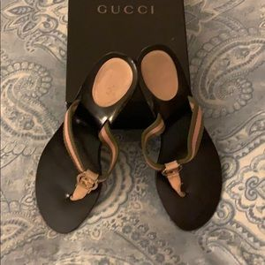 Authentic Gucci Lifford Thong Sandals Size 8-1/2